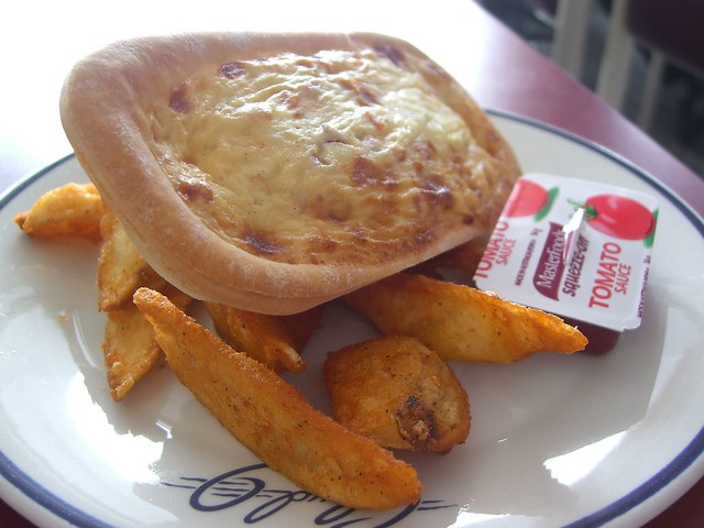 Egg and Bacon Pie and Chips - Cloud 9, Falls Creek from Flickr via Wylio