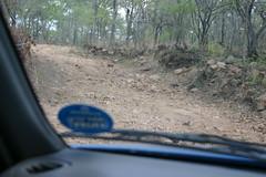 gravel road in Sambia