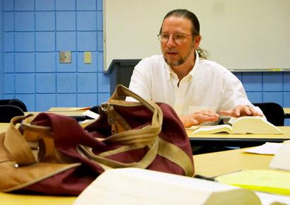 Bryan Dietrich teaching english at Newman University