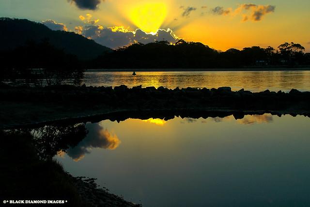 Camden Haven River Sunset - Dunbogan Inlet