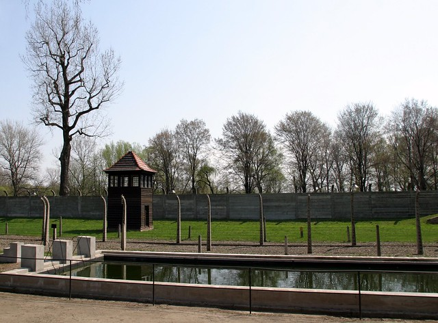 Water Pool And Watch Tower In Concentration Camp Auschwitz Flickr Photo Sharing