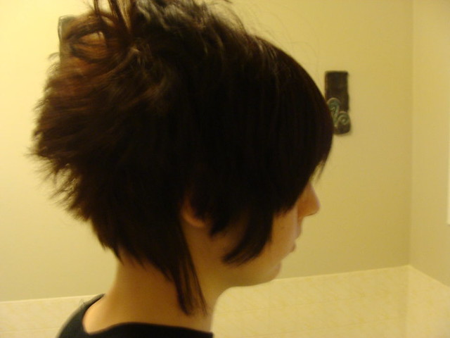 how to do an invisible part weave : My Sasuke Haircut Flickr - Photo Sharing!