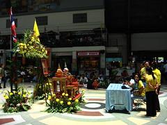 Bangkok - Hua Lamphong Station - tribute to the King