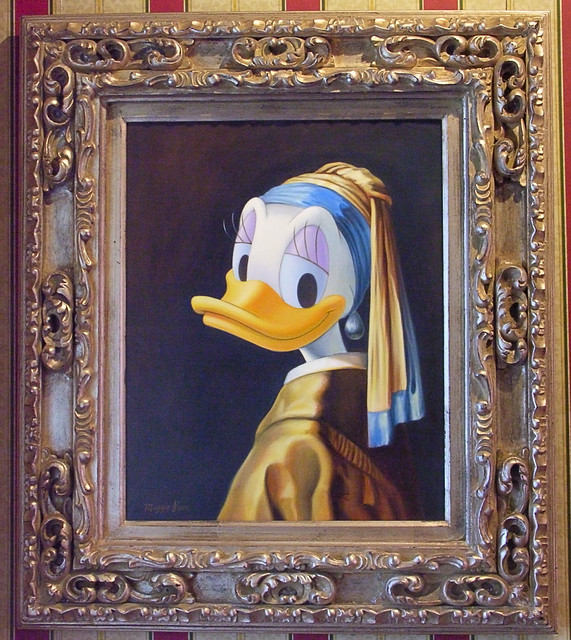 Duck with a Pearl Earring Hanging in the Disney Gallery