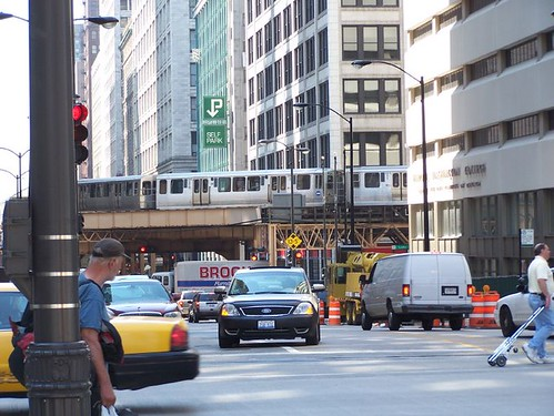 Looking South on Wabash from Wacker