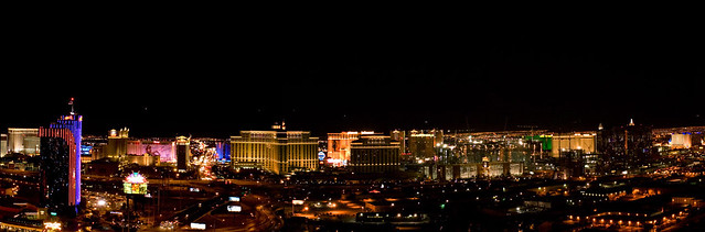Las Vegas Restaurants with a View - View of Las Vegas at night