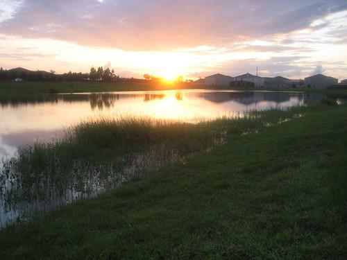 sunset sky lake clouds orlando florida