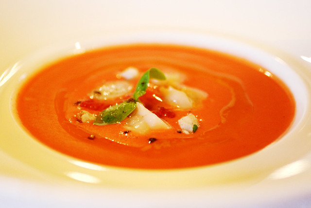 Strawberry gazpacho with shrimp 'n things | Eleven Madison P… | By ...