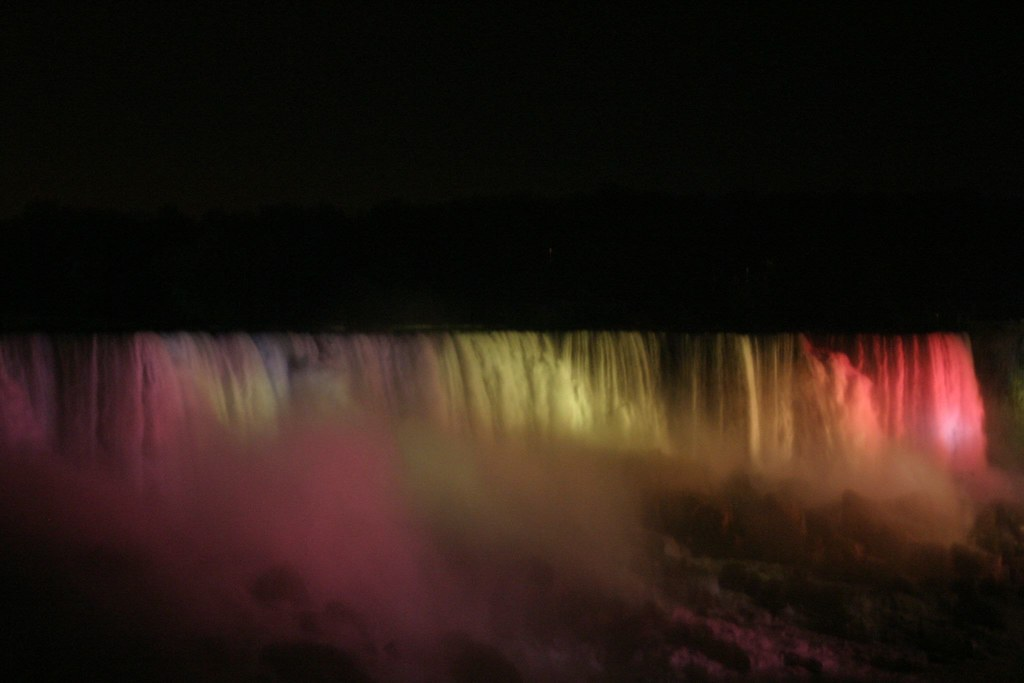 Niagara Ontario - American Falls at Night 5