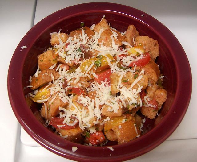 Tomato-bread salad | Flickr - Photo Sharing!