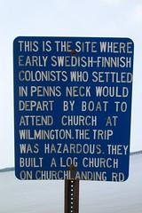 Sign at Church Landing Beach