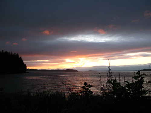 sunset sea sky silhouette clouds bay bc view vancouverisland telegraphcove portmcneill alderbay