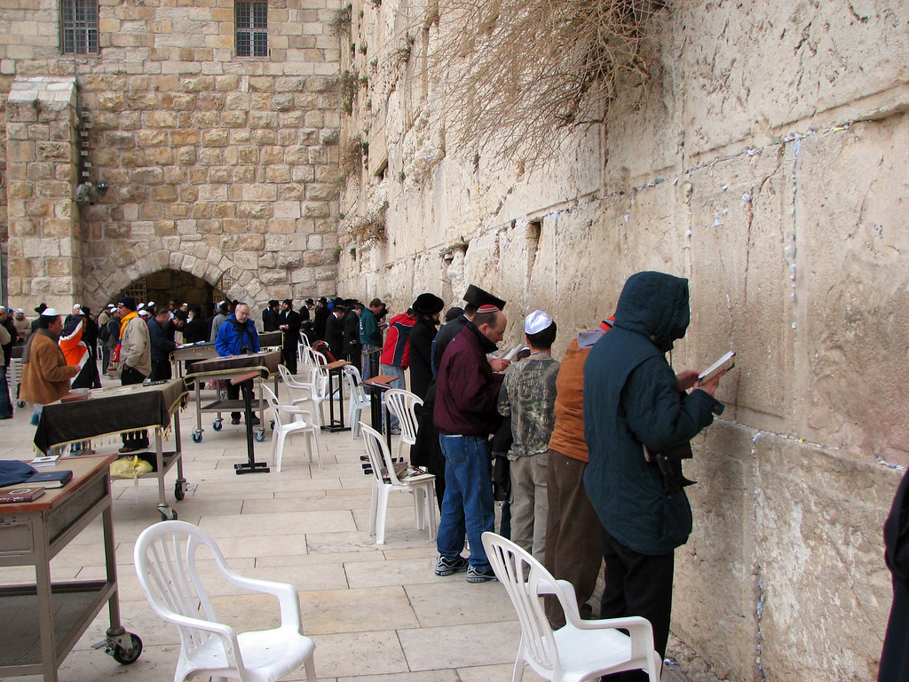 Jerusalem Prayer At The Western Wall The Western Wall