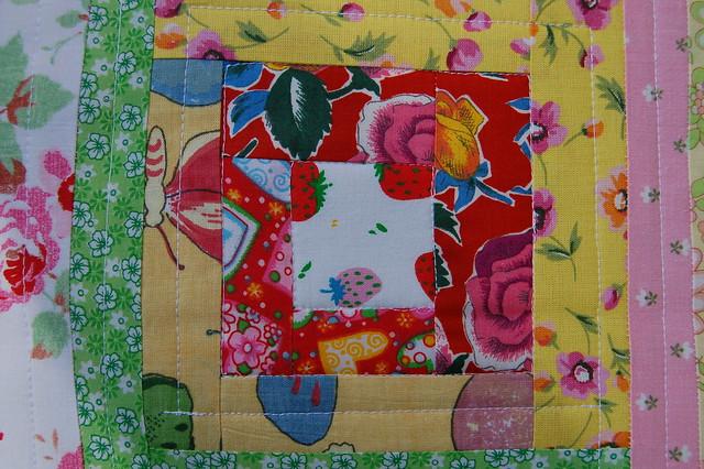 Summer lovin pillow case - detail, sewn by iHanna