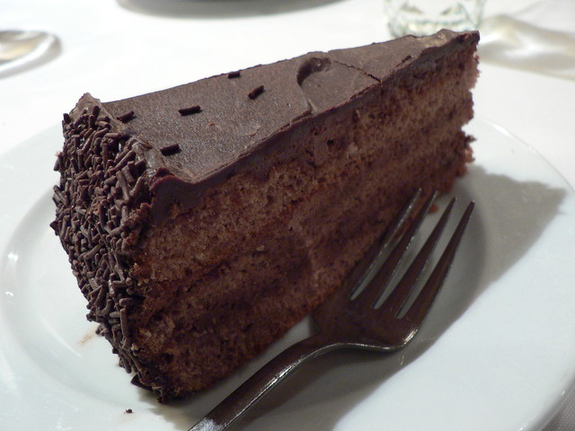 Chocolate Cake With Drinking Chocolate