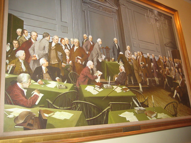 Independence hall painting in tour area explore minnemom for A mural with an area of 18m2
