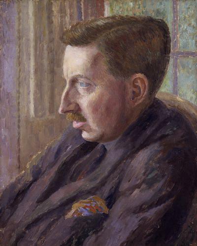 Carrington, Dora (1893-1932) - 1924-25 Portrait of E.M. Forster (National Portrait Gallery, London)