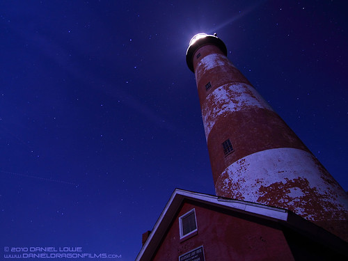 Assateague Island Lighthouse with Big Dipper