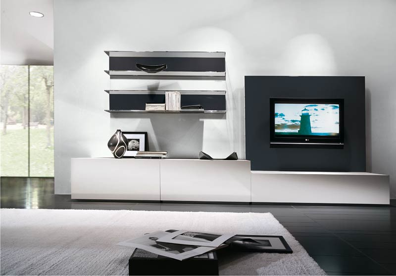 Mueble living modular lcd moderno tv comedor progetto for Racks y modulares para living