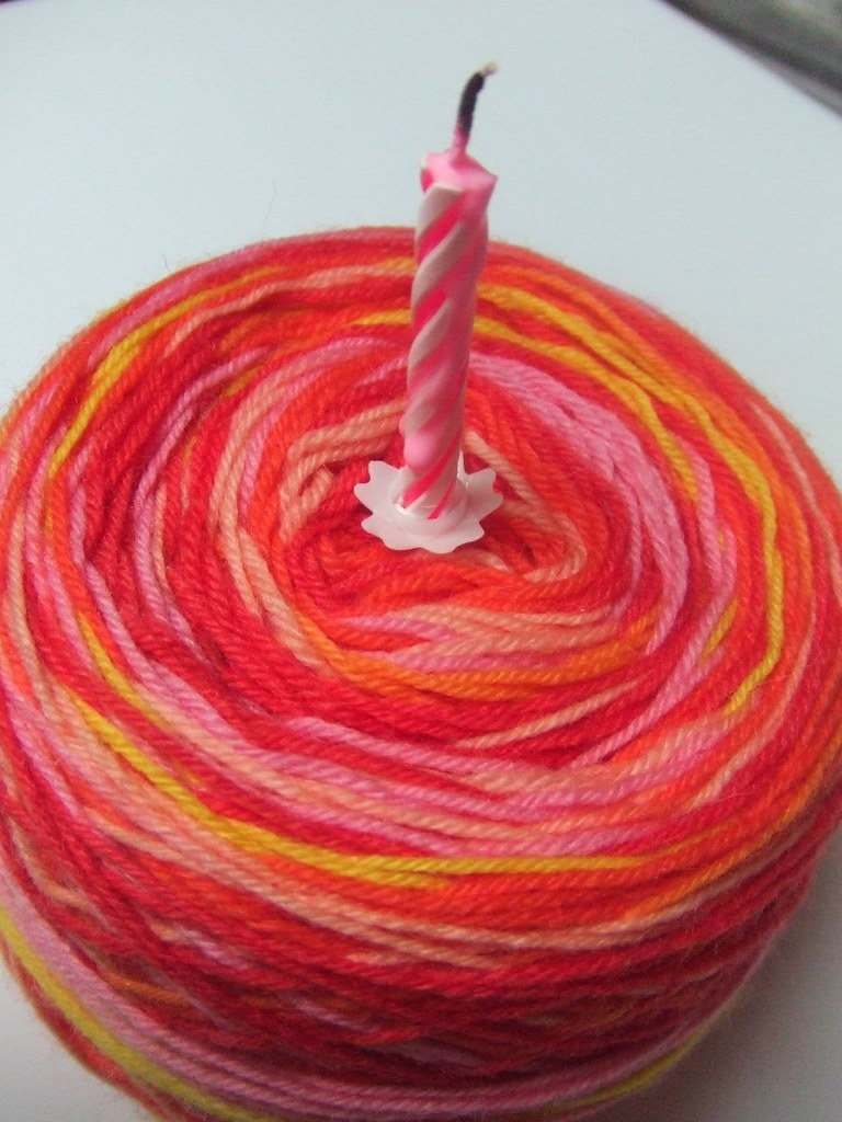 Yarn Birthday Cake