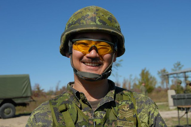 Canadian Forces Sgt in Full Fighting Order (FFO)