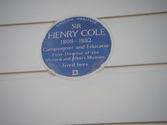 Photo of Henry Cole blue plaque