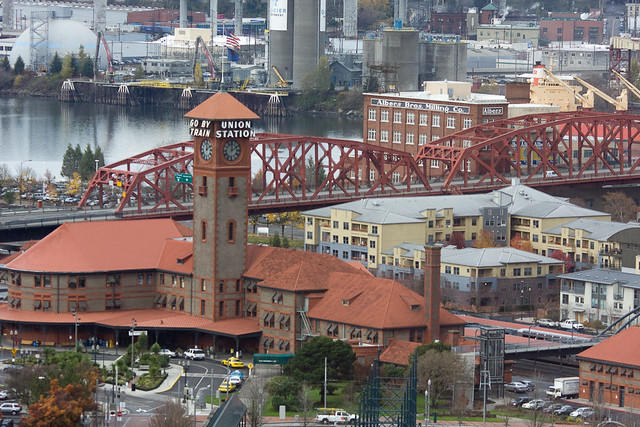 Portland Union Station And Broadway Bridge As Seen From Th Flickr Photo Sharing