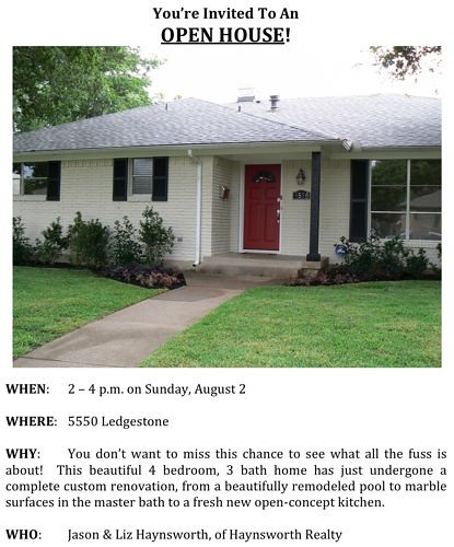 Our Flip: Open House