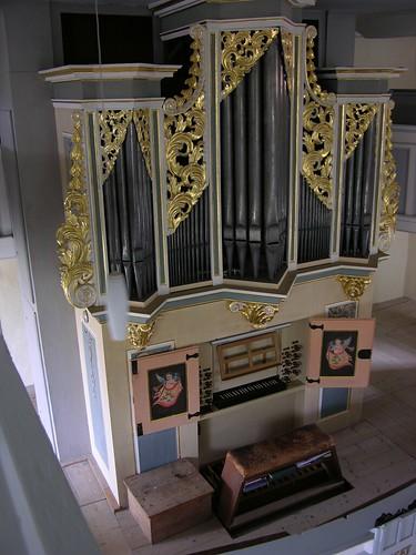 Niederschöna - Dorfkirche, organ total