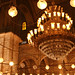 Small photo of Lights in Alabaster Mosque of Mohamed Ali in Cairo