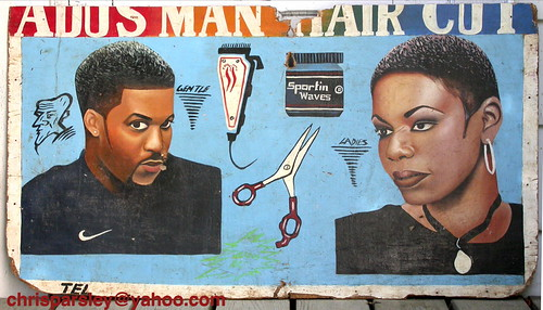 Favorite TROPICALIZER: Barber shop signs from Ghana DR01