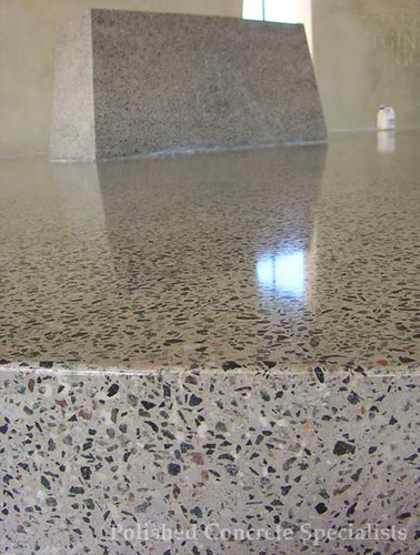 Polished concrete floor finish flickr photo sharing for Floor wax for concrete floors