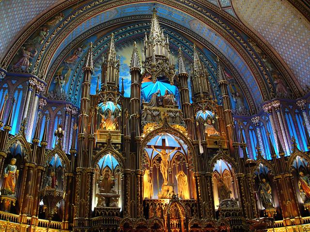 Inside Notre Dame, Montreal