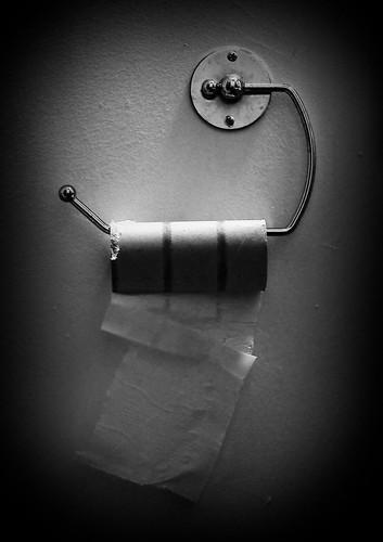bw white black paper bathroom blackwhite interior empty toilet cardboard chrome roll day5 uhoh castlebar project365 2009yip 365x2009 artyeva