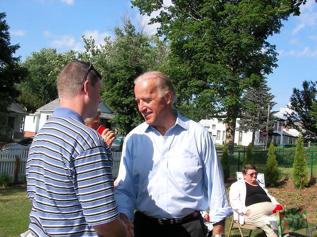 Sen. Joe Biden attends a Creston house party