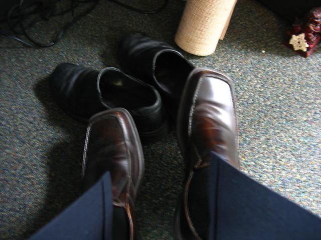 kinda like mr rogers i change my shoes at work | lee leblanc