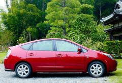 automobile, wheel, vehicle, toyota prius, land vehicle,