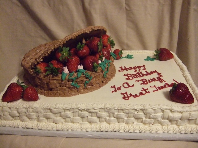 Strawberry Basket Birthday Cake | Flickr - Photo Sharing!