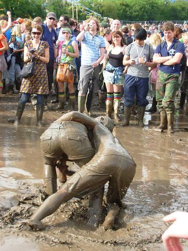 Mud wrestle