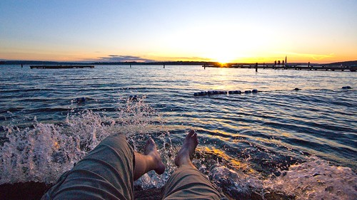sunset selfportrait me water washington danny kirkland day187 365days houghtonbeach 365explored futab flickr:user=poopoorama