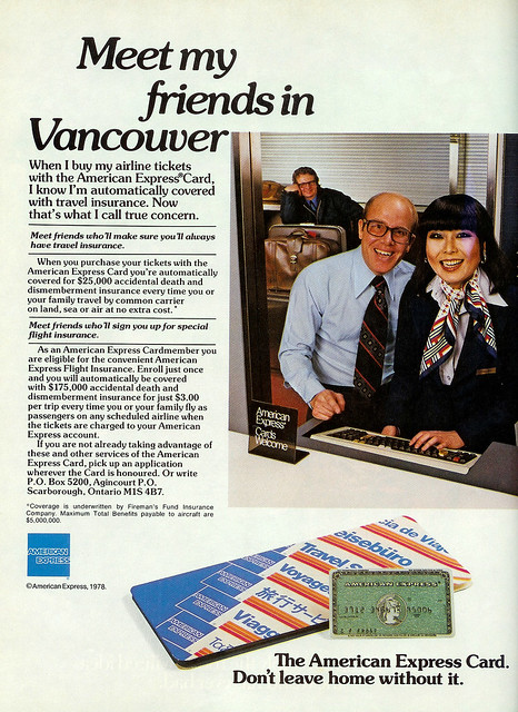 Vintage Ad #298: Meet My Friends in Vancouver, But Only if You Use American Express