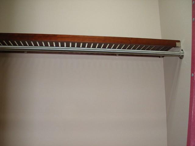 master closet shelf and nickle rod flickr photo sharing. Black Bedroom Furniture Sets. Home Design Ideas