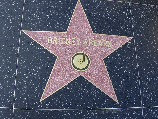 Britney Spears' Star on Walk of Fame in Hollywood, CA