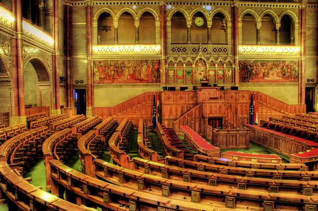 Inside the parliament budapest dentro del parlament for Foto del parlamento