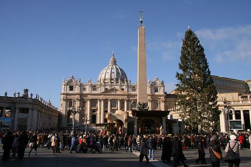 San Pietro, albero e presepe