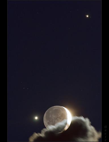 moon clouds stars venus serbia telescope astrophotography canon350d astronomy belgrade jupiter beograd srbija conjunction vozdovac pentax75sdhf kumodraz