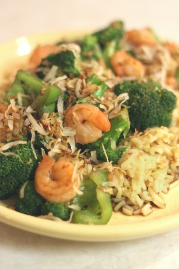 Shrimp with Coconut Rice - 3