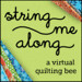 String Me Along bee button - green