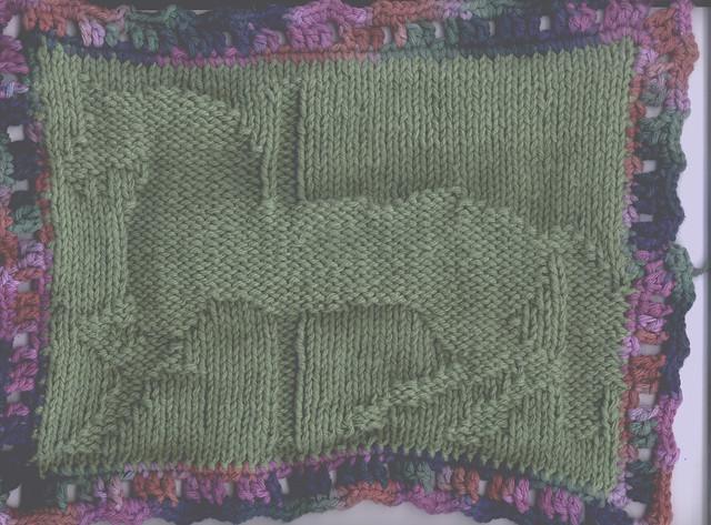 Free Knitted Washcloth Pattern - The Blue Dog Washcloth