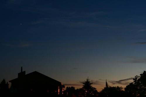 sunset sky silhouette star
